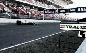 Test Barcellona, incidente per Alonso