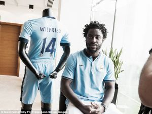 Manchester City confirm £28m signing of Swansea striker Wilfried Bony