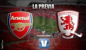 Arsenal - Middlesbrough: el campeón defiende título ante el líder de segunda