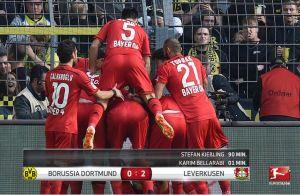 Bundesliga, al Bayer Leverkusen bastano 8 secondi per sbancare Dortmund