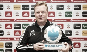 Koeman collects Manager of the Month award