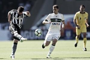 Em jogo franco, Botafogo e Coritiba ficam no empate pelo Brasileirão