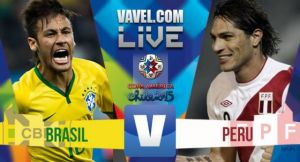 Risultato finale Brasile - Perù 2-1 su Copa America 2015