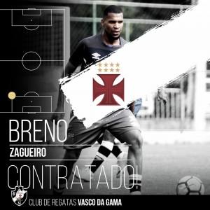 Buscando reforçar a zaga, Vasco acerta com Breno até o fim da temporada