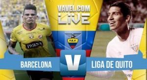Barcelona goleó a Liga de Quitoque se hunde en la tabla de posiciones (3-1)