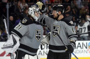 Los Angeles Kings earn first regulation win, defeat Calgary Flames 5-0