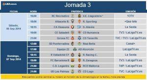 Horarios para el Real Betis en las jornadas 3 y 4