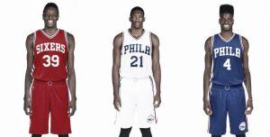 Los Sixers presentan las nuevas camisetas para la próxima temporada