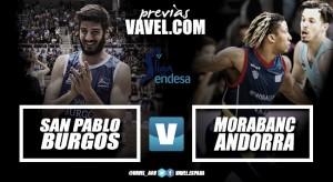 Previa San Pablo Burgos vs MoraBanc Andorra: duelo importante en el Coliseum