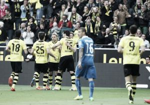 Victoria del Borussia Dortmund en la despedida de Lewandowski