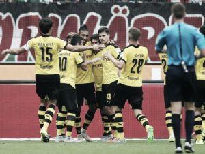 El Dortmund jugó con el Hannover