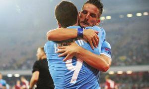 Europa League : Higuain e Mertens, il Napoli torna alla vittoria