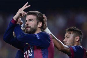 Ci pensa Piqué, Barcellona vs Apoel 1-0