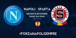 Live Napoli vs Sparta Praga, Diretta Europa League