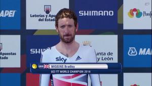 Ponferrada 2014, crono elite uomini: la prima volta di Wiggins, battuto anche Martin. Sesto Malori!