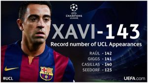 Xavi sigue batiendo récords