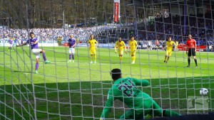 Erzgebirge Aue 3-0 1860 Munich: Nazarov penalty double helps Violas continue revival
