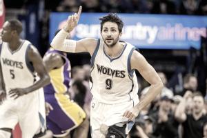 Rubio faz maior pontuação da carreira e Timberwolves vencem Lakers