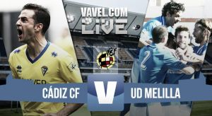 Cádiz - Melilla en directo online (2-0)