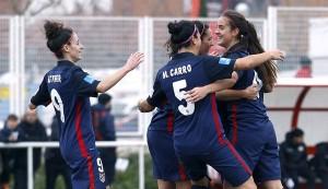El Atlético Féminas domina Vallecas y mantiene la sonrisa