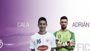 Adrián Jiménez y Cala, dos nuevas incorporaciones para el Real Jaén