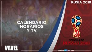 Horarios de todos los partidos y dónde ver por TV el Mundial de Rusia 2018