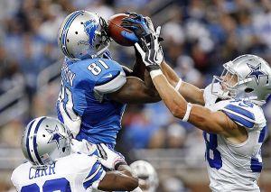 Impresionante juego de Calvin Johnson, que da trunfo a Lions sobre Cowboys