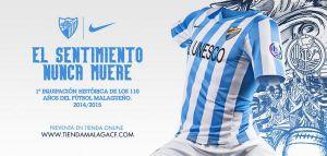 La camiseta del Málaga conmemora los 110 años de fútbol
