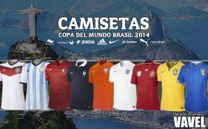 Las camisetas y equipaciones de las selecciones del Mundial de Brasil 2014