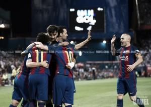 Messi manda en la tercera Copa consecutiva del Barça