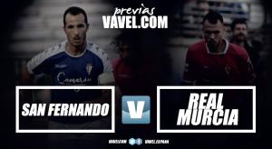 San Fernando - Real Murcia: Salmerón quiere estrenarse con victoria