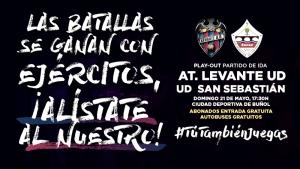 Buses gratuitos para apoyar al Atlético Levante en la promoción por la permanencia
