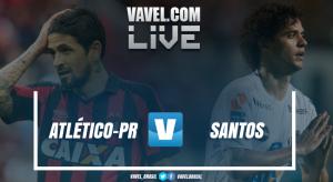 Jogo Atlético-PR x Santos pelo Brasileirão (0-2)