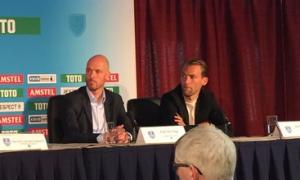 """Erik Ten Hag: """"Ganar la KNVB es un gran premio para un club como el Utrecht"""""""