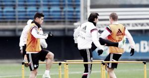 Último entrenamiento antes de marchar a Málaga