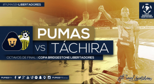 Pumas se medirá a Deportivo Táchira en Octavos de Final de Libertadores