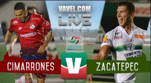 Resultado y goles del partido Cimarrones vs Zacatepec (0-1)