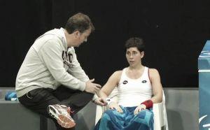 Una tortícolis impide a Carla Suarez que dispute la final de Amberes
