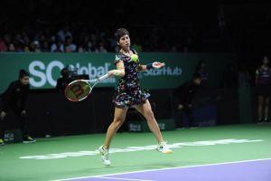 Suárez Navarro lidera en el WTA Torneo de las Maestras