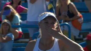 Caroline Wozniacki makes her first Cincinnati Semi