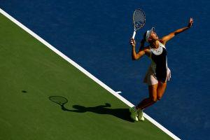 US Open: Fourth Seed Caroline Wozniacki Defeats NCAA Champion Jamie Loeb In Straight Sets