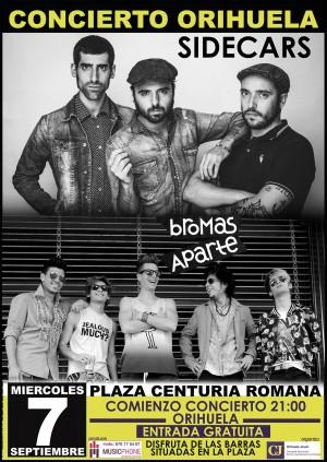 Sidecars y Bromas Aparte llenarán Orihuela con la mejor música del momento