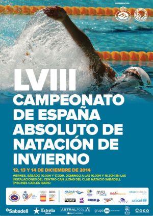 Sabadell acoge el Campeonato de España de Invierno en piscina corta