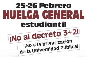 Los estudiantes convocan huelga contra el '3+2' de Wert