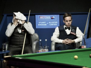 The champion is stunned in the opening round of the World Championship