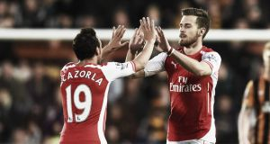 Score Match Arsenal vs Swansea City Result Commentary and Barclays Premier League Scores 2015 (0-1)
