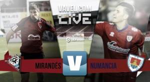 La primera parte condena al Mirandés ante el Numancia (0-2)