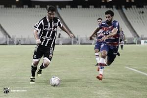 Autor do gol alvinegro, Felipe Menezes lamenta empate diante do Fortaleza pela Taça Fares Lopes