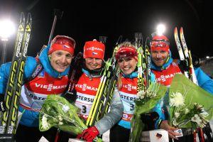 Biathlon: disastro Fourcade, staffetta alla Repubblica Ceca