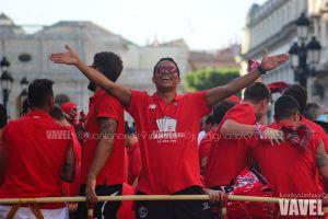La celebración del Sevilla tras conquistar la Europa League, en imágenes